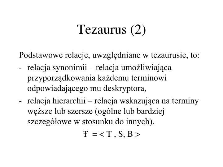 Tezaurus (2)