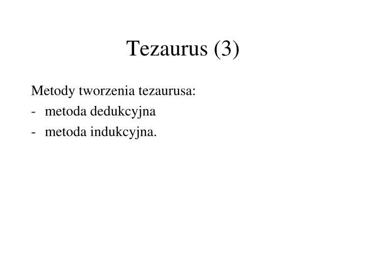 Tezaurus (3)