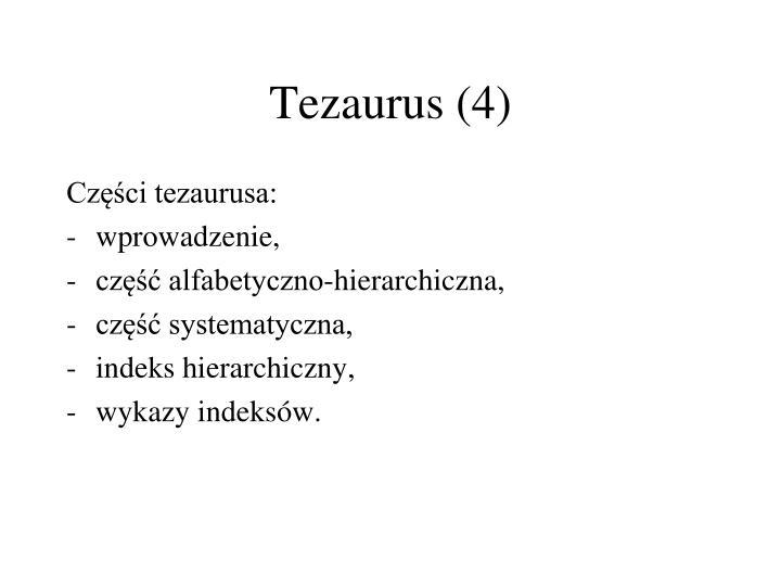 Tezaurus (4)