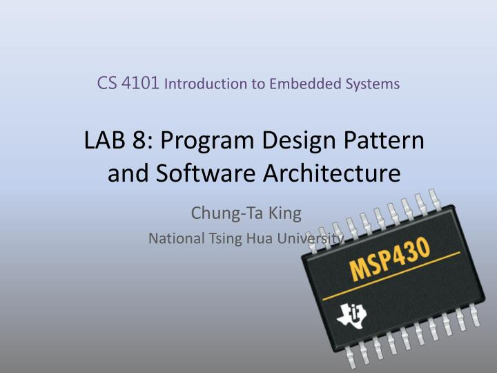 Ppt Lab 8 Program Design Pattern And Software Architecture Powerpoint Presentation Id 6612310