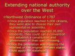 extending national authority over the west2