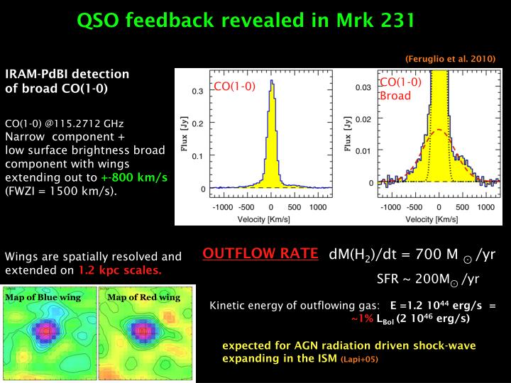 QSO feedback revealed in Mrk 231