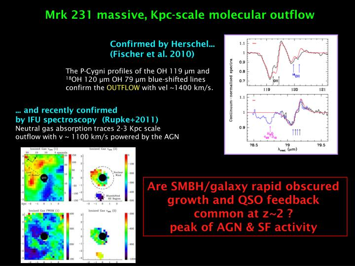 Mrk 231 massive, Kpc-scale molecular outflow