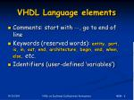 vhdl language elements