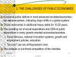 2 the challenges of public economies