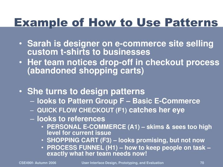Example of How to Use Patterns