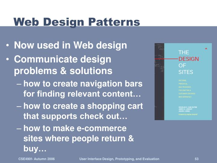 Web Design Patterns