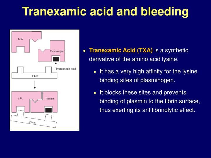 Tranexamic acid and bleeding