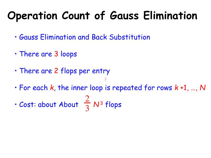Operation Count of Gauss Elimination