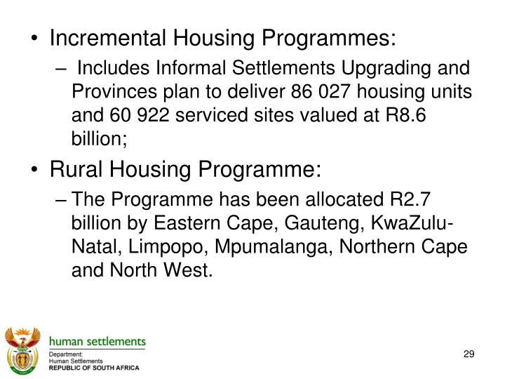 Incremental Housing Programmes: