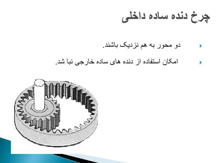 چرخ دنده ساده داخلی