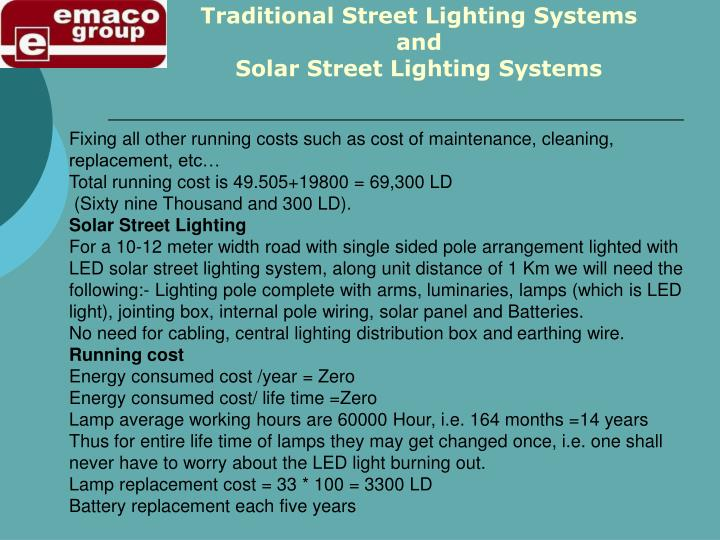 Traditional Street Lighting Systems