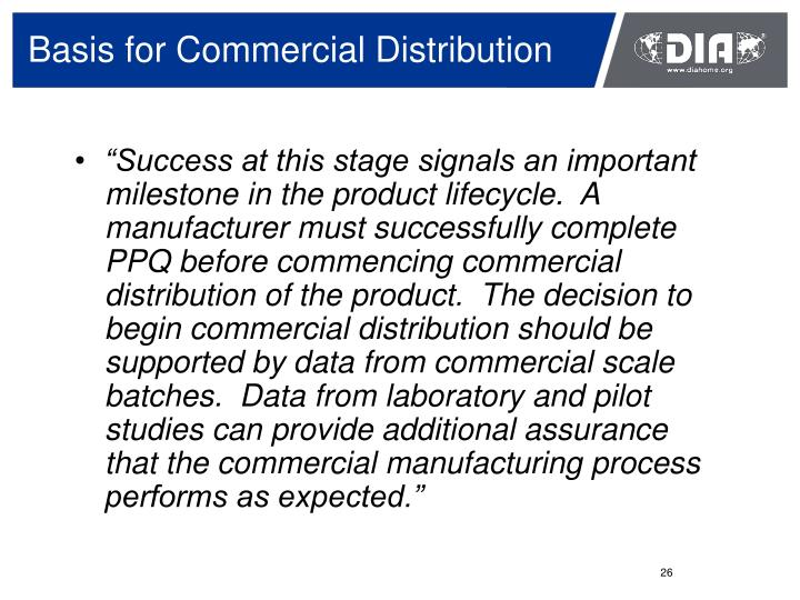 Basis for Commercial Distribution