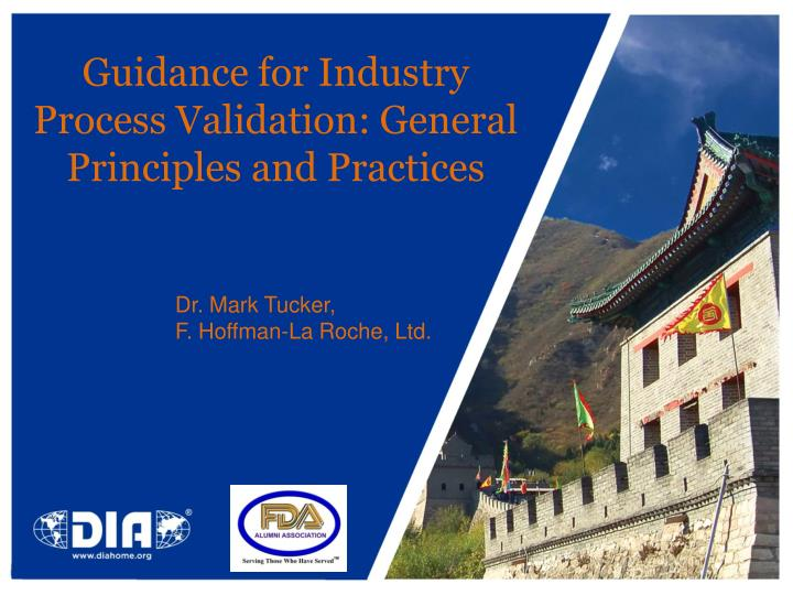 Guidance for industry process validation general principles and practices