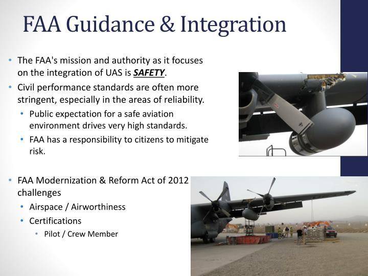 Faa guidance integration
