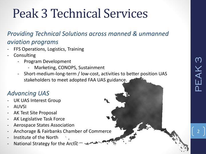 Peak 3 technical services