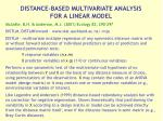 distance based multivariate analysis for a linear model