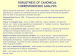 robustness of canonical correspondence analysis