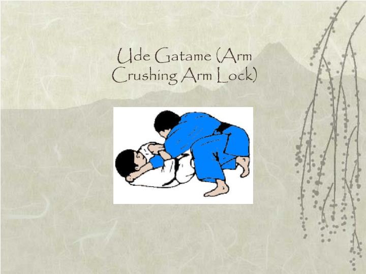 Ude Gatame (Arm Crushing Arm Lock)