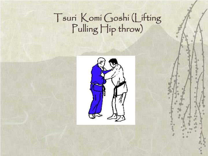 Tsuri  Komi Goshi (Lifting  Pulling Hip throw)