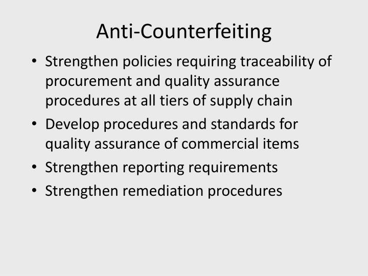 Anti-Counterfeiting