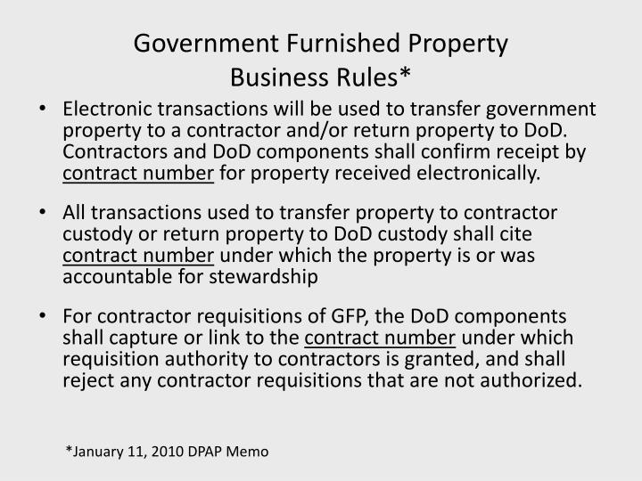 Government Furnished Property