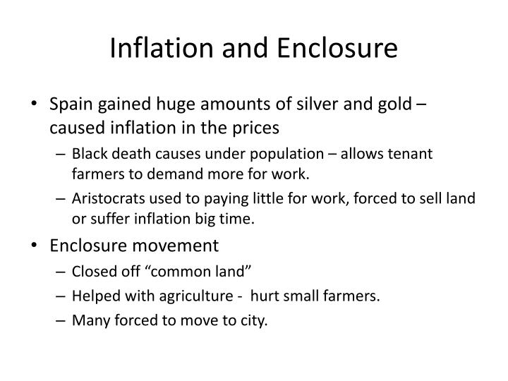Inflation and Enclosure