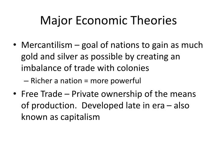 Major Economic Theories