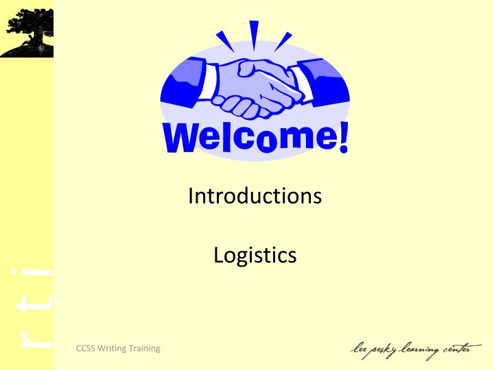 Introductions logistics