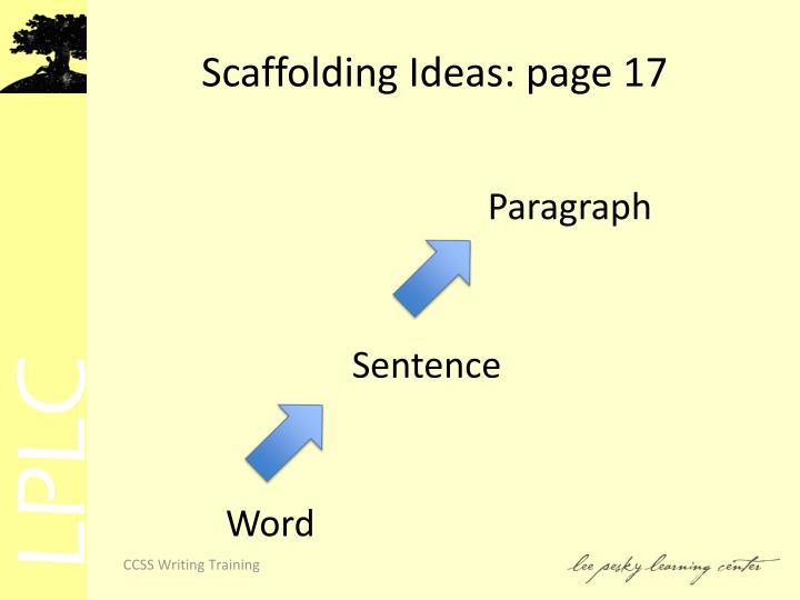 Scaffolding Ideas: page 17