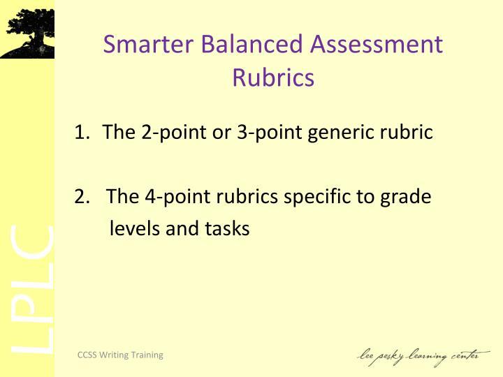 Smarter Balanced Assessment Rubrics