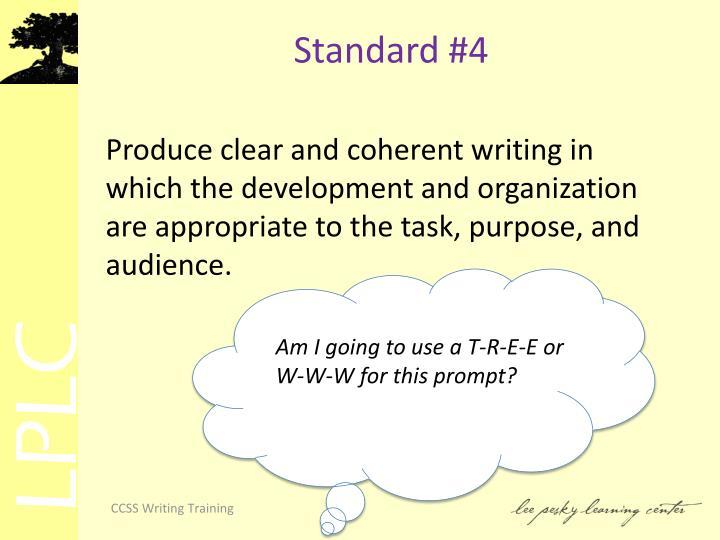 Standard #4
