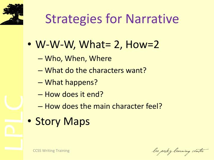 Strategies for Narrative