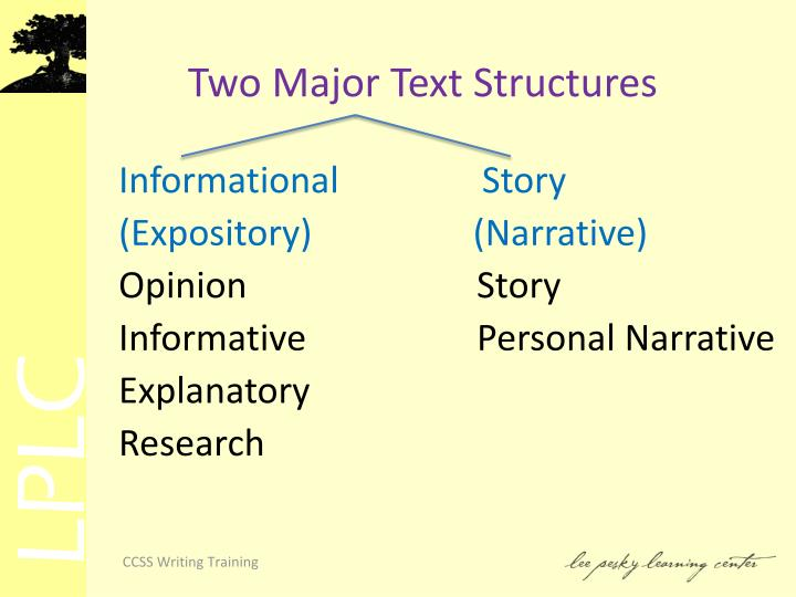 Two Major Text Structures
