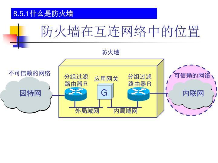 防火墙在互连网络中的位置