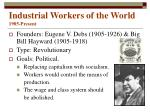 industrial workers of the world 1905 present