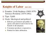 knights of labor 1869 1892