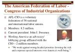 the american federation of labor congress of industrial organizations