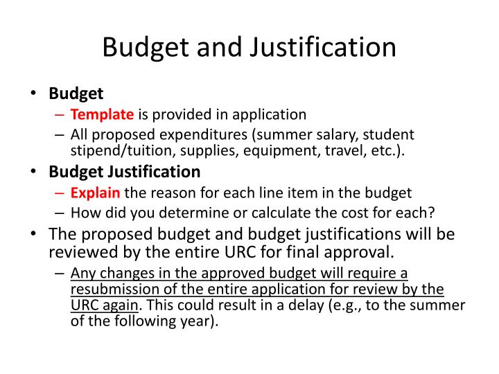 Budget and Justification
