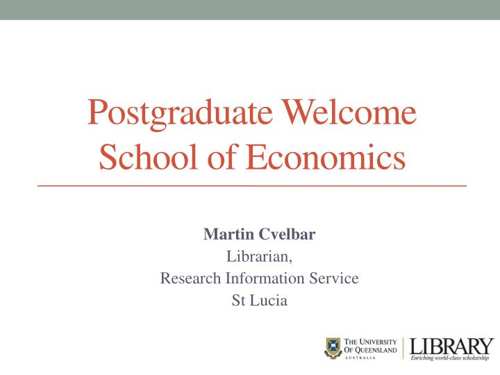 Postgraduate Welcome