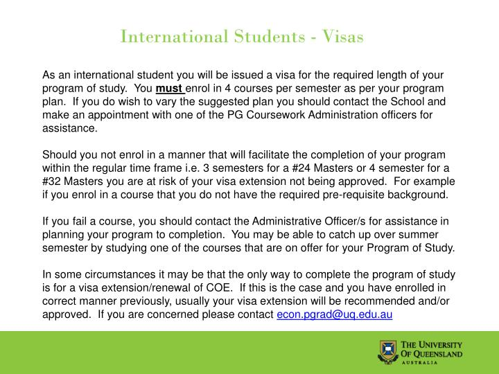 International Students - Visas