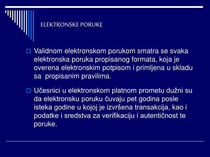 ELEKTRONSKE PORUKE