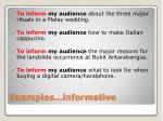 examples informative