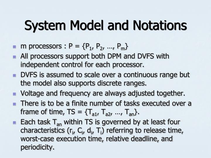System Model and Notations