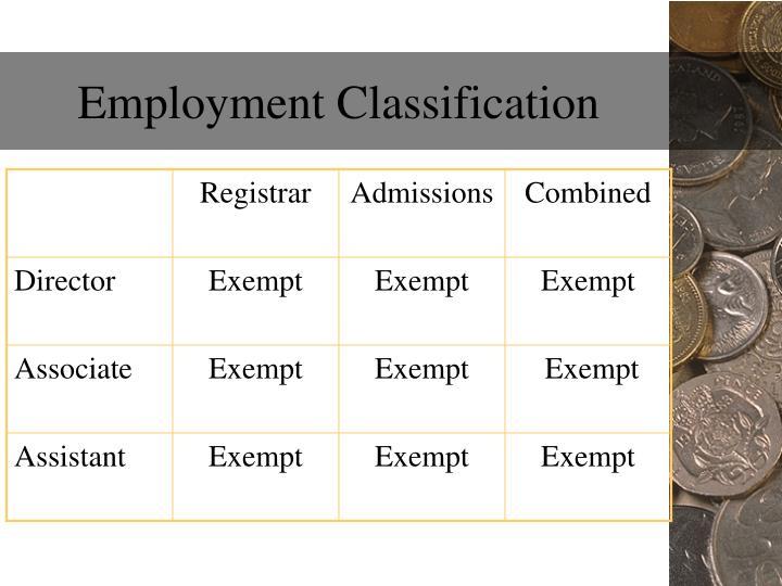 Employment Classification