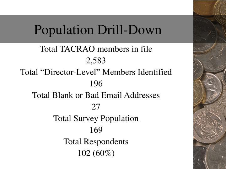 Population drill down