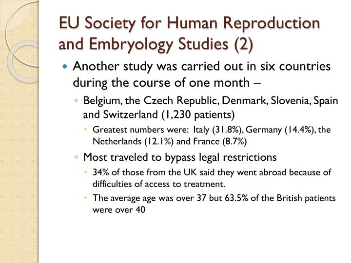 EU Society for Human Reproduction and Embryology Studies (2)