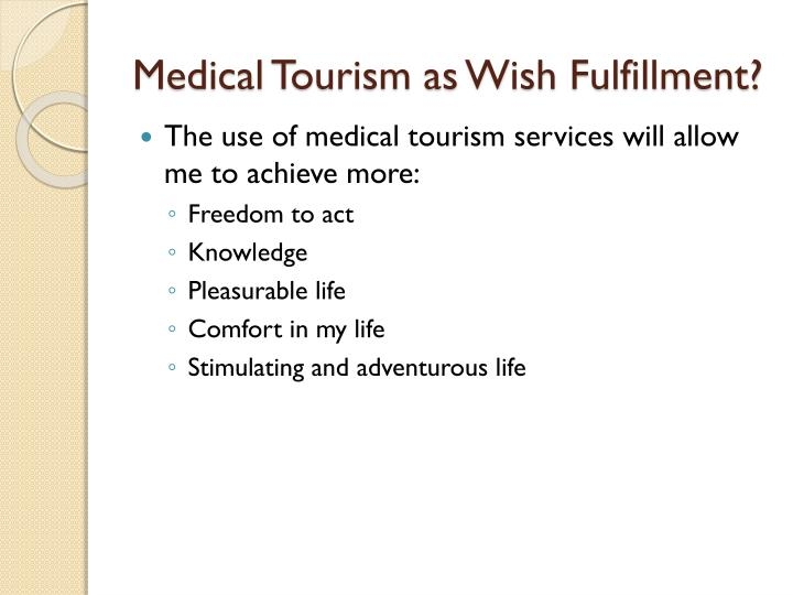 Medical Tourism as Wish Fulfillment?