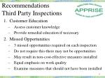 recommendations third party inspections