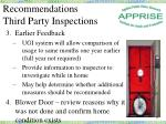 recommendations third party inspections1